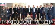 Cengiz Ergün Akhisardaki Tüm Oda Başkanlarını Makamında Ağırladı !