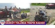 Hasköy Yolunda Trafik Kazası!
