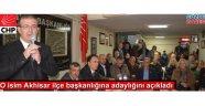 Ahmet Tınazlı CHP İlçe Başkanlığına aday oldu