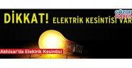 Akhisar'da Elektrik Kesintisi