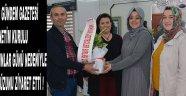 Akhisar Gündem Gazetesi Yönetim Kurulu , 8 Mart Kadınlar Günü Nedeniyle Şükran Füzun'u Ziyaret Etti !