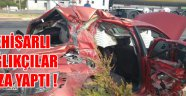 Akhisarlı sağlıkçılar kaza yaptı