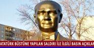 Atatürk Büstüne Yapılan Saldırı İle İlgili Basın Açıklaması