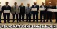 Manisa'da AK Parti'li vekiller mazbatalarını aldı !