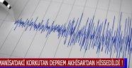 Manisa'daki Korkutan Deprem Akhisar'dan Hissedildi !