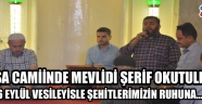Paşa Camii'nde Mevlidi Şerif Okutuldu!