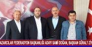 Pazarcılar Federasyon Başkanlığı Adayı Sami Doğan, Başkan Güral'ı Ziyaret Etti