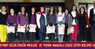 Zeynep Gülin Öngör Mesleki  ve Teknik Anadolu Lisesi Giyim Bölümü Okuyor