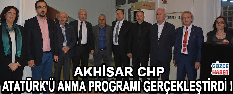 Akhisar CHP Atatürk'ü Anma Programı Gerçekleştirdi !