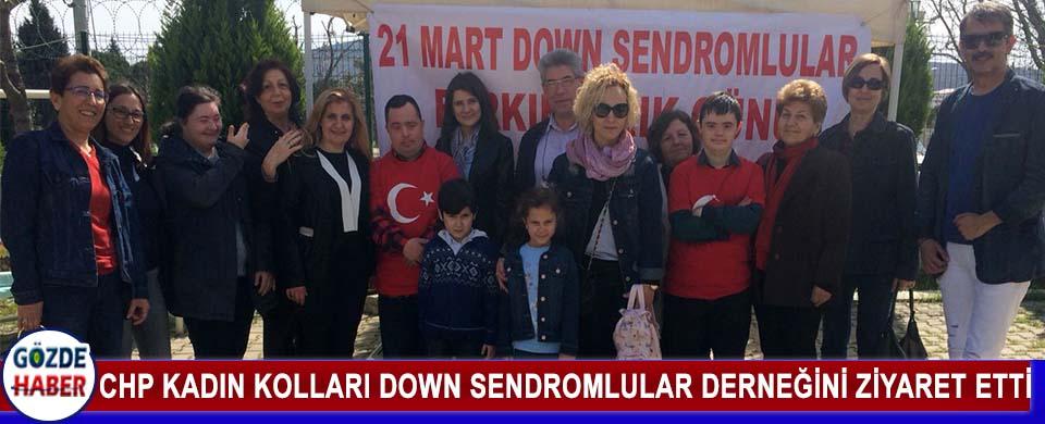 CHP Kadın Kolları Down Sendromlular Derneğini Ziyaret Etti