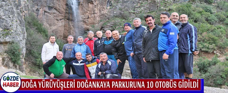 Doğa yürüyüşleri Doğankaya parkuruna 10 otobüs gidildi