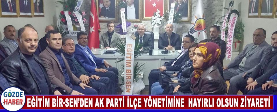 Eğitim Bir-Sen'den Ak Parti İlçe Yönetimine  Hayırlı Olsun Ziyareti