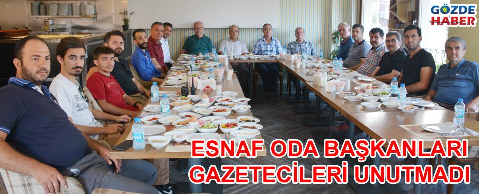 Esnaf oda başkanları basın bayramını kutladı