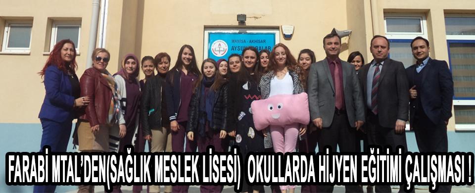 FARABİ MTAL'DEN(SAĞLIK MESLEK LİSESİ)  OKULLARDA HİJYEN EĞİTİMİ ÇALIŞMASI !