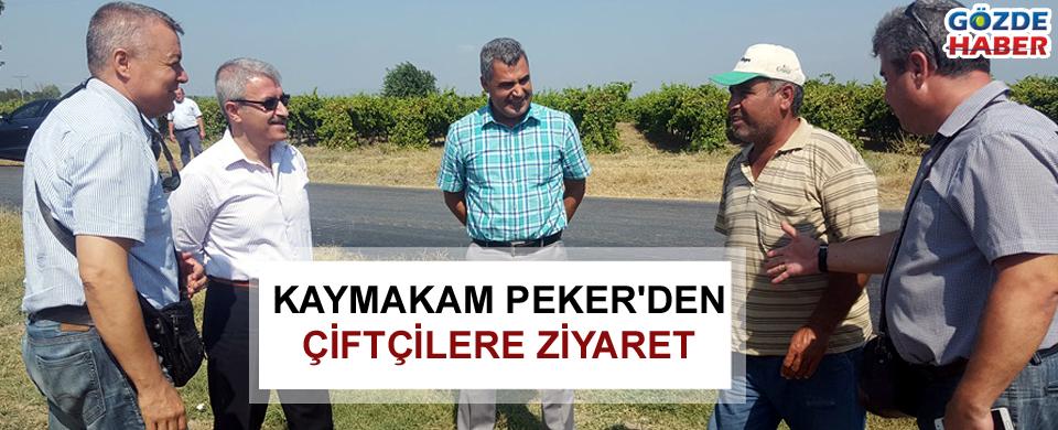 Kaymakam Peker'den çiftçilere ziyaret
