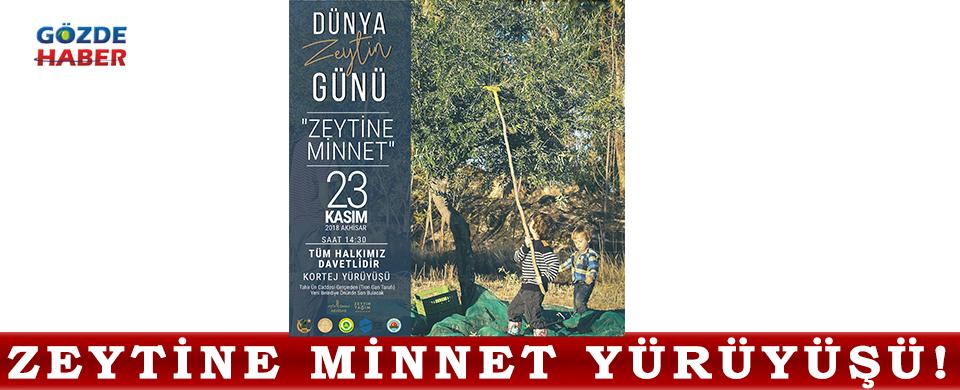 Zeytine Minnet Yürüyüşü!