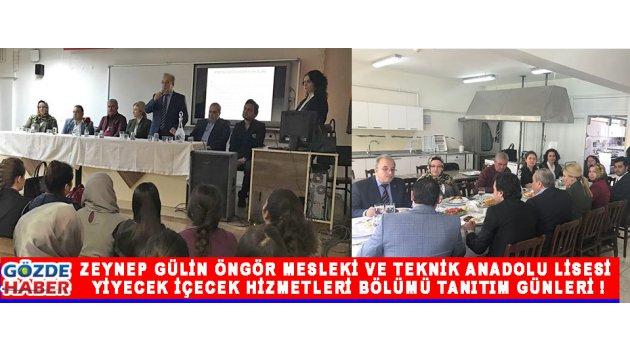Zeynep Gülin Öngör Mesleki Ve Teknik Anadolu Lisesi Yiyecek İçecek Hizmetleri Bölümü Tanıtım Günleri !
